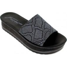 Fiore Γυναικεία Σανδάλια Πλατφόρμες Δέρμα T99 Μαύρο