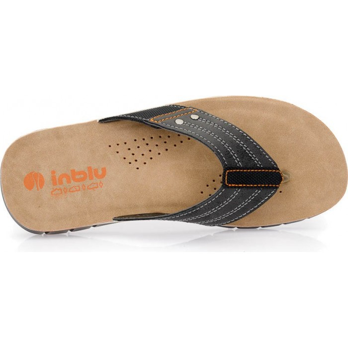 965939f3e8e Inblu Anatomico Ανδρικά πέδιλα A-DT26 Ανθρακί | Milanos Shoes