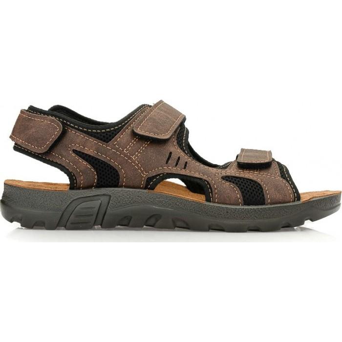 bc141e2ea5c Inblu Anatomico Ανδρικά πέδιλα A-TL04 Καφέ | Milanos Shoes