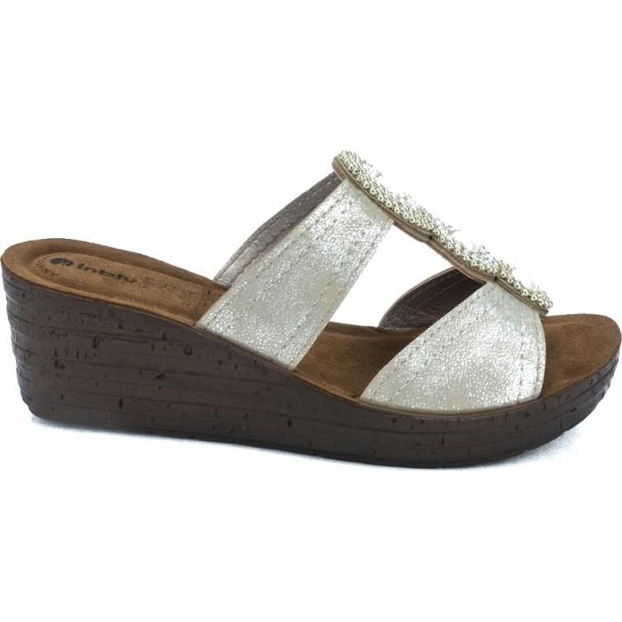014d1abe5d1 Inblu Anatomico Γυναικεία Πέδιλα Πλατφόρμες Γ-GMAY Χρυσό | Milanos Shoes