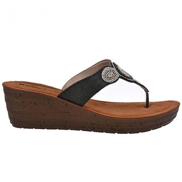 b0b40be4c9a Inblu Anatomico Γυναικεία Πέδιλα Πλατφόρμες Γ-GM07 Mαύρο | Milanos Shoes