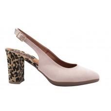 Milanos Γυναικείες Γόβες 4306 Nude Suede Leopard