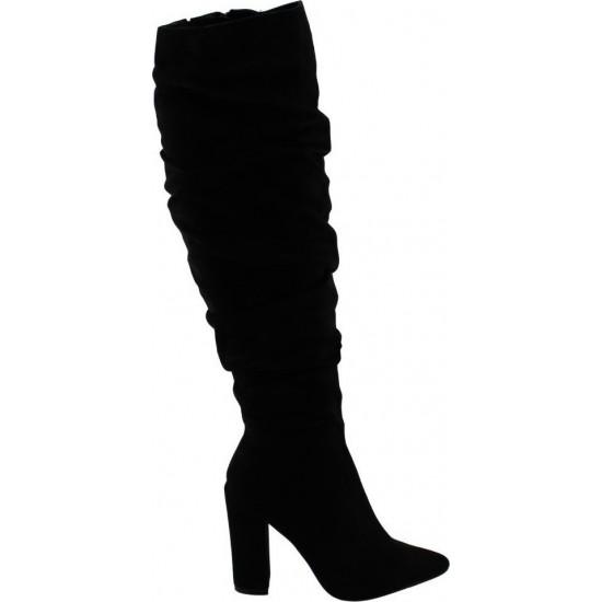 Milanos Γυναικείες Μπότες C-10 Μαύρο Suede