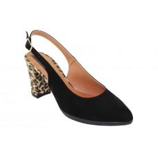 Milanos Γυναικείες Γόβες 4306 Μαύρο Suede Leopard