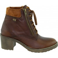 Road Shoes Γυναικεία Μποτάκια Δέρμα 17100 Καφέ
