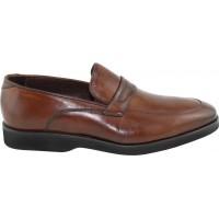 Road Shoes Ανδρικά Casual Δέρμα 17042 Καφέ
