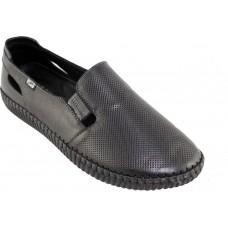 Road Shoes Γυναικεία Sneakers Δέρμα 17113 Μαύρο
