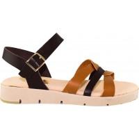 Road Shoes Γυναικεία Flatforms Δέρμα 17126 Ταμπά Καφέ