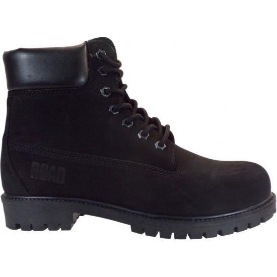 Road Shoes Ανδρικά Μποτάκια Δέρμα 0565 Μαύρο Σαμουά