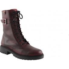 Road Shoes Γυναικεία Μποτάκια Δέρμα 17101 Μπορντώ