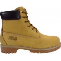 Road Shoes Ανδρικά Μποτάκια Δέρμα 0565 Κίτρινο Σαμουά