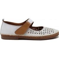 Road Shoes Γυναικεία Μοκασίνια Δέρμα 17216 Λευκό
