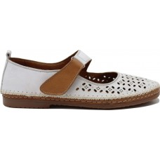 Road Shoes Γυναικεία Sneakers Δέρμα 17216 Λευκό