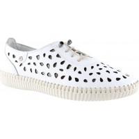 Road Shoes Γυναικεία Μοκασίνια Δέρμα 17191 Λευκό