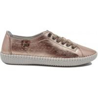 Road Shoes Γυναικεία Μοκασίνια Δέρμα 17114 Χαλκός