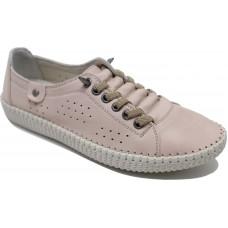 Road Shoes Γυναικεία Μοκασίνια Δέρμα 17114 Nude
