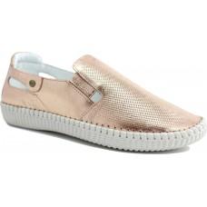 Road Shoes Γυναικεία Μοκασίνια Δέρμα 17113 Χαλκός