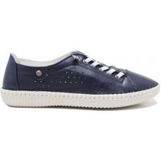 Road Shoes Γυναικεία Μοκασίνια Δέρμα 17114 Μπλέ