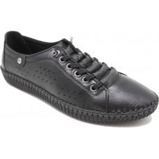 Road Shoes Γυναικεία Μοκασίνια Δέρμα 17114 Μαύρο