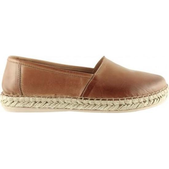 Road Shoes Γυναικείες Εσπαντρίγιες Δέρμα 8226 Ταμπά