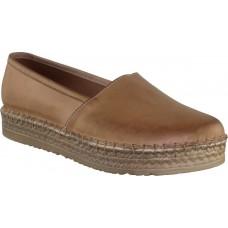 Road Shoes Γυναικείες Εσπαντρίγιες Δέρμα 9254 Ταμπά