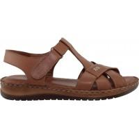 Road Shoes Γυναικεία Πέδιλα Flatforms Δέρμα 17288 Ταμπά