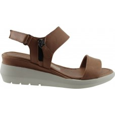 Road Shoes Γυναικεία Πέδιλα Πλατφόρμες Δέρμα 17279 Ταμπά