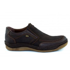 Road Shoes Ανδρικά Casual Δέρμα 16955 Καφέ