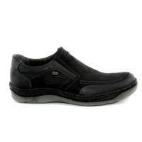 Road Shoes Ανδρικά Casual Δέρμα 16955 Μαύρο