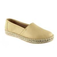Road Shoes Γυναικείες Εσπαντρίγιες Δέρμα 8226 Κίτρινο