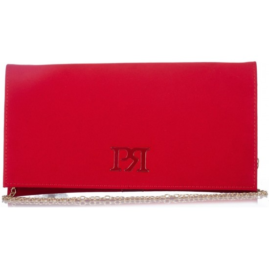 Pierro accessories Φάκελος Χειρός 90537KS08 Κόκκινο Suede