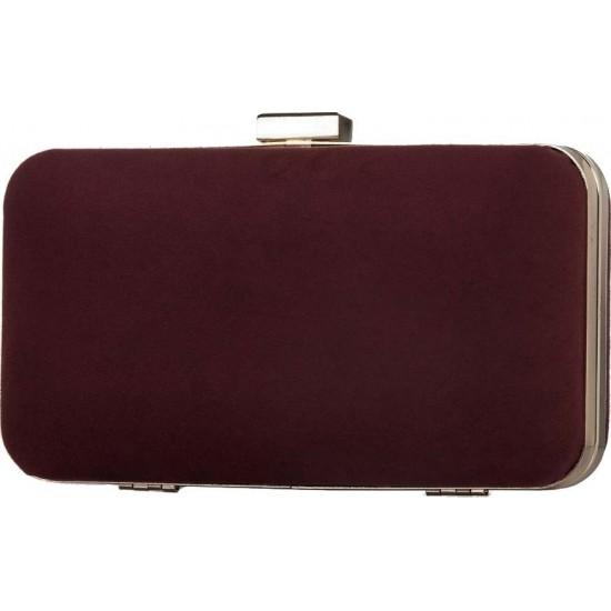 Pierro accessories Τσαντάκι Clutch 90449KS15 Μπορντώ Suede