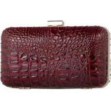Pierro accessories Τσαντάκι Clutch 90449KRSY15 Μπορντώ Κροκό