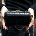 Pierro accessories Τσαντάκι Clutch 90449KRSY01 Μαύρο Κροκό