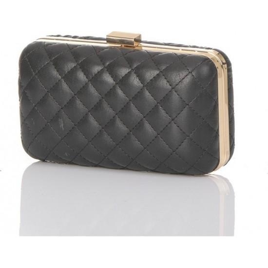 Pierro accessories Τσαντάκι Clutch 90449KPT01 Μαύρο Καπιτονέ