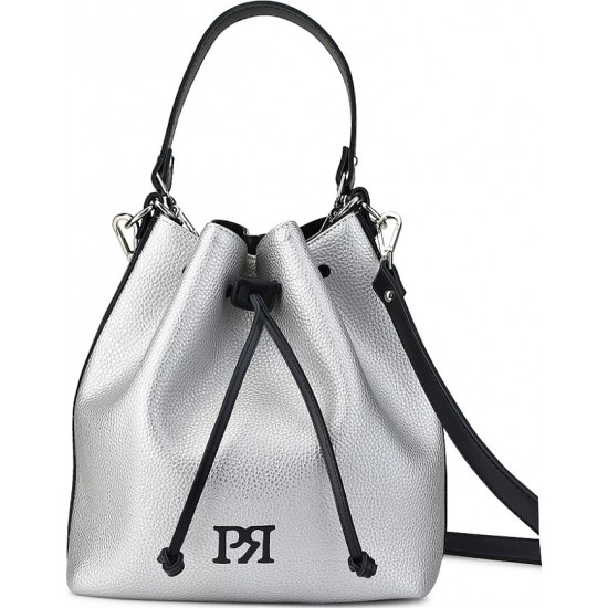 Pierro accessories Τσάντα Πουγκί Δέρμα 90400DL22 Ασημί