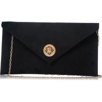 Pierro accessories Φάκελος Χειρός 90428KS01 Μαύρο Suede