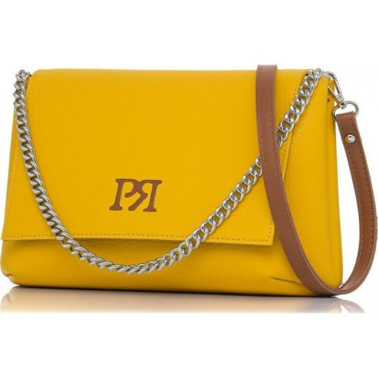 Pierro accessories Τσάντα Χιαστί 90614DL20 Κίτρινο