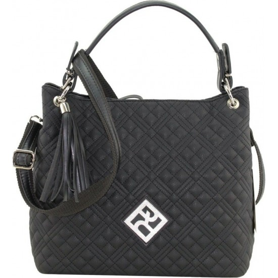 Pierro accessories Τσάντα Ωμου 90519KPT01 Μαύρο Καπιτονέ