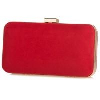 Pierro accessories Τσαντάκι Clutch 90449KS08 Κόκκινο Suede