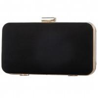 Pierro accessories Τσαντάκι Clutch 90449KS01 Μαύρο Suede