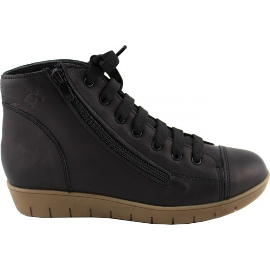 Remake shoes Γυναικεία Μποτάκια Δέρμα 6232 Μαύρο