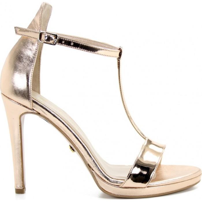 5231f3c514a S.Piero Γυναικεία Πέδιλα Δέρμα 10Α/25 Χαλκός | Milanos Shoes