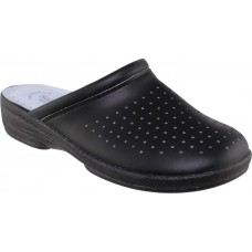 Sadino Shoes Γυναικεία Σαμπώ Δέρμα Γ-8001 Μαύρο