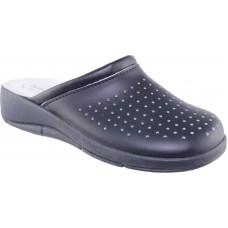 Sadino Shoes Γυναικεία Σαμπώ Δέρμα Γ-8001 Μπλέ