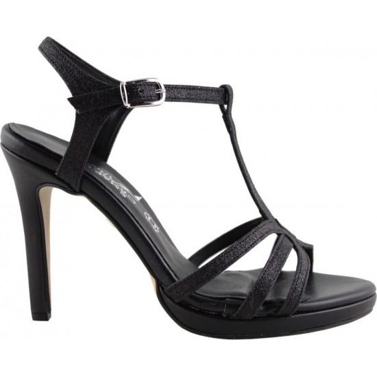 Smart Cronos Shoes Γυναικεία Πέδιλα 7204-3493 Μαύρο Sugar