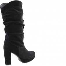 Stefania Γυναικείες Μπότες Δέρμα 5000 Μαύρο Suede