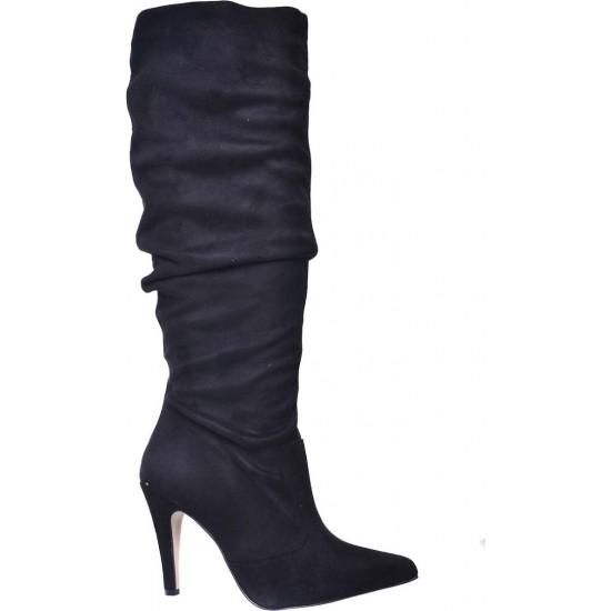 Stefania Γυναικείες Μπότες 1920 Μαύρο Suede