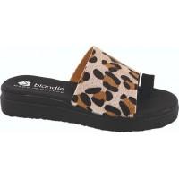 Zak Shoes Γυναικεία Σανδάλια Flatform GK216 Μαύρο Leopard