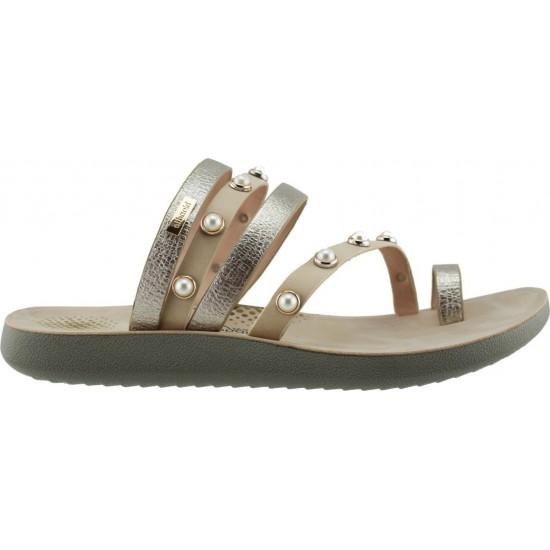 Zak Shoes Γυναικεία Σανδάλια 31/211 Πλατίνα